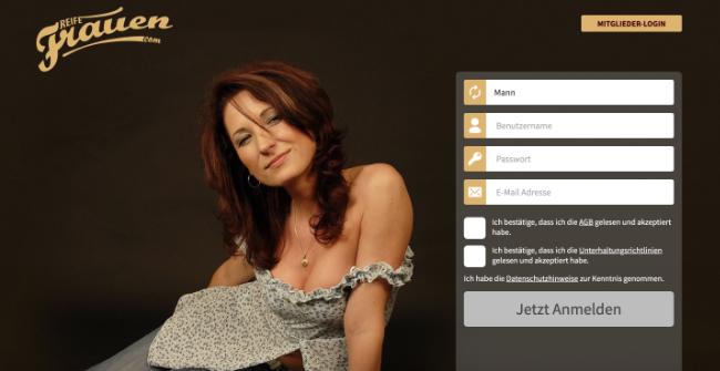 Reifefrauen.com Sexdate Seite für Milfs